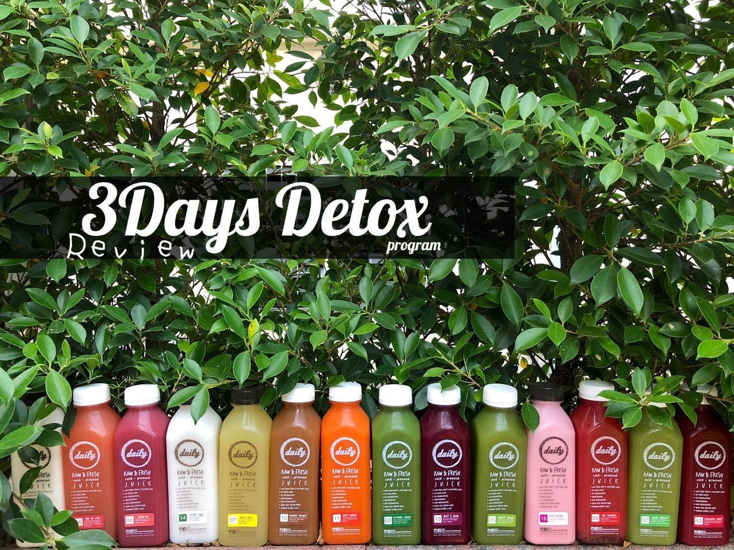 3 Days Detox by Daily Cold Pressed Juice